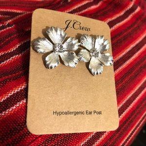 J. Crew silver flower stud earrings (NEW!)